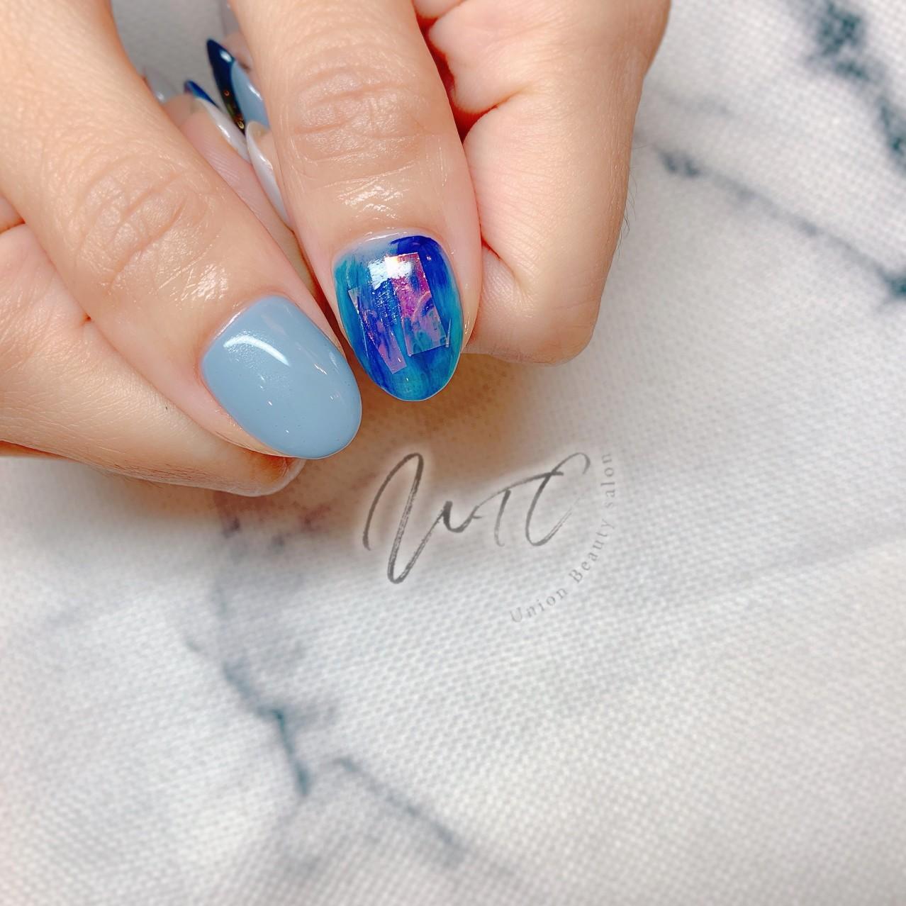 藍色玻璃紙